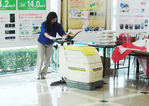 床面表面洗浄